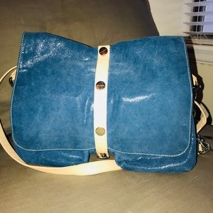 Pulicati Blue Leather Satchel